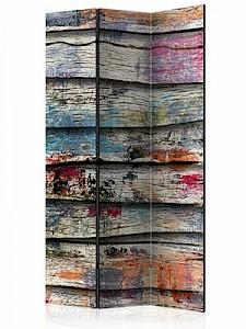 artgeist Paravent Colourful Wood [Room Dividers] mehrfarbig Gr. 135 x 172
