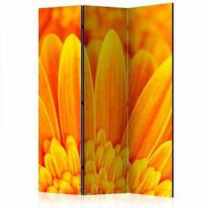 artgeist Paravent Yellow gerbera daisies [Room Dividers] gelb-kombi Gr. 135 x 172