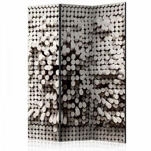 artgeist Paravent White Fortress [Room Dividers] schwarz/weiß Gr. 135 x 172