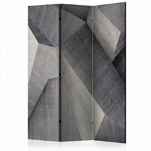 artgeist Paravent Abstract concrete blocks [Room Dividers] grau Gr. 135 x 172