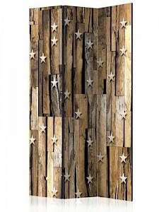 artgeist Paravent Wooden Constellation [Room Dividers] braun/beige Gr. 135 x 172
