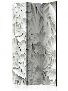 artgeist Paravent Alabaster Garden [Room Dividers] weiß Gr. 135 x 172
