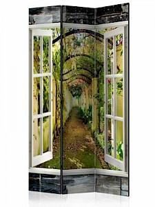 artgeist Paravent Secret Garden [Room Dividers] grün-kombi Gr. 135 x 172