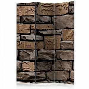 artgeist Paravent Egyptian Stone [Room Dividers] grau/braun Gr. 135 x 172