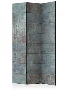 artgeist Paravent Turquoise Concrete [Room Dividers] grau/türkis Gr. 135 x 172
