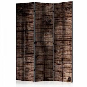artgeist Paravent Dark Brown Boards [Room Dividers] braun/schwarz Gr. 135 x 172