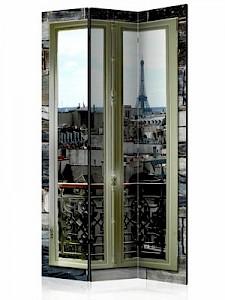 artgeist Paravent Parisian View [Room Dividers] beige/braun Gr. 135 x 172