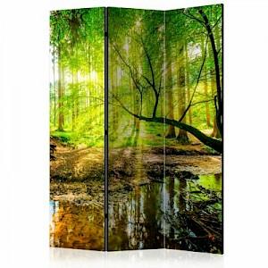 artgeist Paravent Forest Stream [Room Dividers] mehrfarbig Gr. 135 x 172