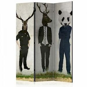 artgeist Paravent Man or Animal? [Room Dividers] dunkelblau Gr. 135 x 172