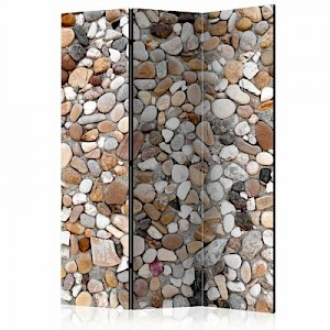 artgeist Paravent Stone Beach [Room Dividers] mehrfarbig Gr. 135 x 172