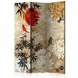 artgeist Paravent Fish Dance [Room Dividers] beige-kombi Gr. 135 x 172