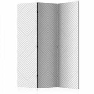 artgeist Paravent Broken Lines [Room Dividers] grau/braun Gr. 135 x 172