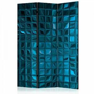 artgeist Paravent Azure Mosaic [Room Dividers] blau Gr. 135 x 172