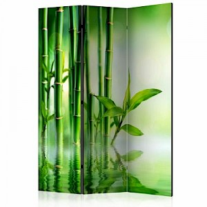 artgeist Paravent Bamboo Grove [Room Dividers] grün Gr. 135 x 172