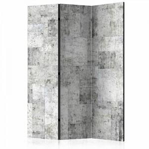 artgeist Paravent Concrete: Grey City [Room Dividers] grau Gr. 135 x 172