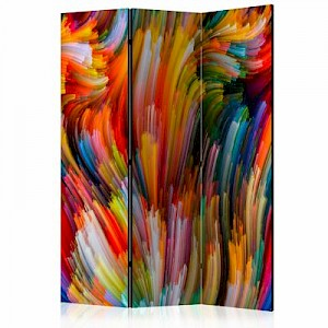 artgeist Paravent Rainbow Waves [Room Dividers] mehrfarbig Gr. 135 x 172