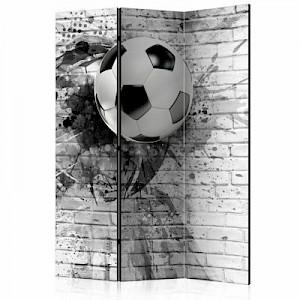 artgeist Paravent Dynamic Football [Room Dividers] schwarz/weiß Gr. 135 x 172
