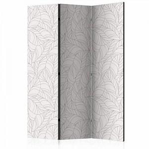 artgeist Paravent Colourless Leaves [Room Dividers] schwarz/beige Gr. 135 x 172
