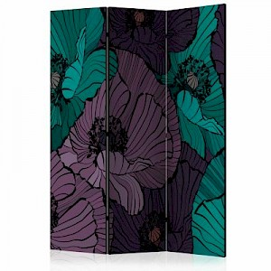 artgeist Paravent Flowerbed [Room Dividers] mehrfarbig Gr. 135 x 172