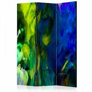 artgeist Paravent Colored flames II [Room Dividers] mehrfarbig Gr. 135 x 172