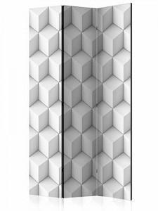 artgeist Paravent Room divider – Cube I schwarz/weiß Gr. 135 x 172