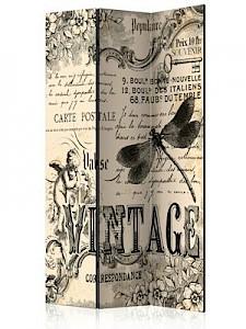 artgeist Paravent Vintage Correspondence [Room Dividers] beige/schwarz Gr. 135 x 172