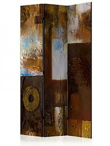 artgeist Paravent Winter Landscape [Room Dividers] blau-kombi Gr. 135 x 172