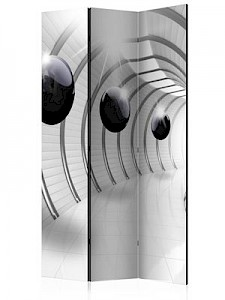 artgeist Paravent Futuristic Tunnel [Room Dividers] grau-kombi Gr. 135 x 172