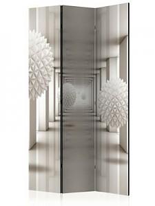 artgeist Paravent Gateway to the Future [Room Dividers] grau/weiß Gr. 135 x 172