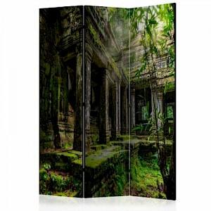 artgeist Paravent Preah Khan [Room Dividers] grün-kombi Gr. 135 x 172
