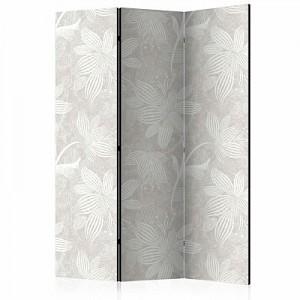 artgeist Paravent Floral Elements [Room Dividers] weiß/beige Gr. 135 x 172