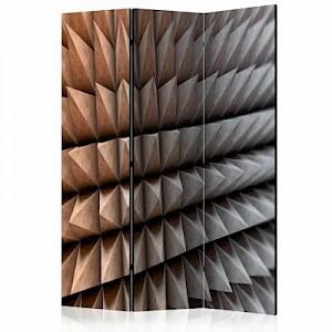 artgeist Paravent Steel Defense  [Room Dividers] grau/braun Gr. 135 x 172