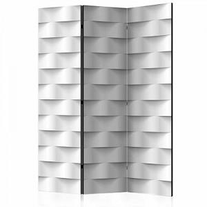 artgeist Paravent White Illusion [Room Dividers] grau Gr. 135 x 172