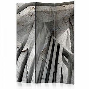 artgeist Paravent Beton 3D [Room Dividers] grau Gr. 135 x 172