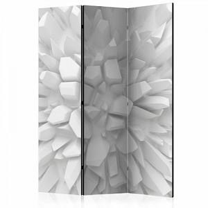 artgeist Paravent White dahlia [Room Dividers] weiß/grau Gr. 135 x 172