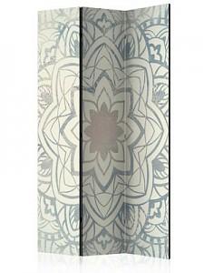 artgeist Paravent Winter Mandala [Room Dividers] grau-kombi Gr. 135 x 172