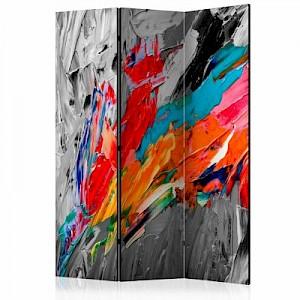 artgeist Paravent Fiery Bird [Room Dividers] grau Gr. 135 x 172