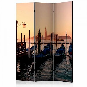 artgeist Paravent Gondola into the Unknown [Room Dividers] mehrfarbig Gr. 135 x 172