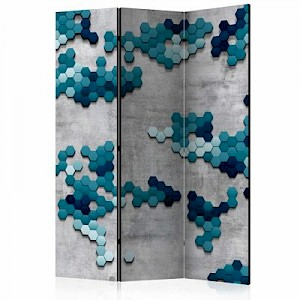 artgeist Paravent Sea puzzle [Room Dividers] graublau Gr. 135 x 172