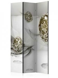 artgeist Paravent Abstract Diamonds [Room Dividers] grau-kombi Gr. 135 x 172
