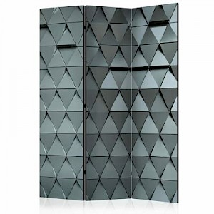 artgeist Paravent Metal Gates [Room Dividers] graublau Gr. 135 x 172