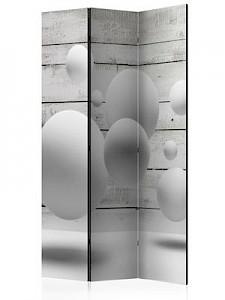 artgeist Paravent Balls [Room Dividers] grau/weiß Gr. 135 x 172