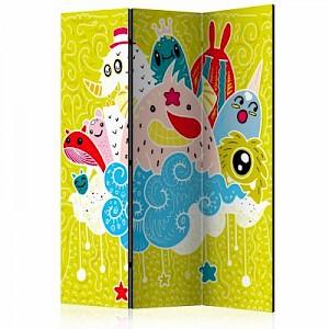 artgeist Paravent Happy Creatures [Room Dividers] mehrfarbig Gr. 135 x 172