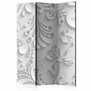 artgeist Paravent Flowers with Crystals [Room Dividers] schwarz/weiß Gr. 135 x 172