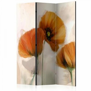 artgeist Paravent poppies - vintage [Room Dividers] mehrfarbig Gr. 135 x 172