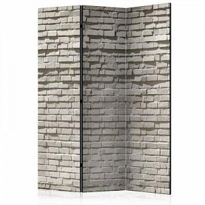 artgeist Paravent Brick Wall: Minimalism [Room Dividers] grau Gr. 135 x 172
