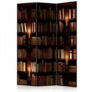 artgeist Paravent Bookshelves [Room Dividers] mehrfarbig Gr. 135 x 172