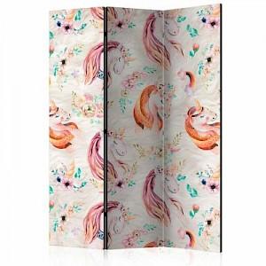 artgeist Paravent Pastel Unicorns [Room Dividers] mehrfarbig Gr. 135 x 172