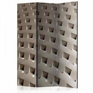 artgeist Paravent The Construction of Modernity [Room Dividers] grau/beige Gr. 135 x 172