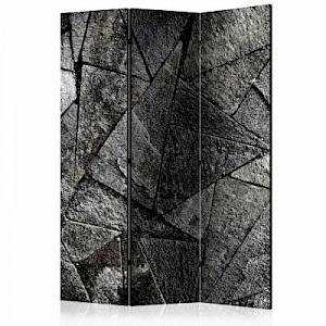 artgeist Paravent Pavement Tiles (Grey) [Room Dividers] schwarz/weiß Gr. 135 x 172